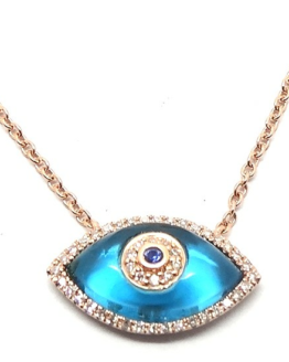 Necklace with Blue Quartz Eye